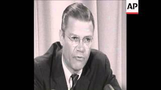 SYND 30/11/67 ROBERT MCNAMARA RESIGNS AS DEFENCE SECRETARY