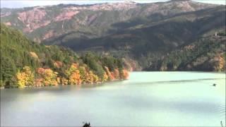 """Akaishi-Maru"" Boat on Ikawa Lake 23/Nov/2013 #6 井川湖の赤石丸 Bote ""Akaishi-Maru"" de Lago Ikawa"