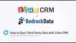 How to Sync Third Party data with Zoho CRM