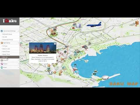 BAKU Map | Dubai Map | Interactive Map | Dubai Online Map | 3D Interactive Map |Easy Map Advertising
