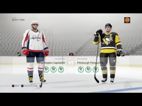 NHL 17 Regular Season: Capitals at Penguins (10/13/2016)