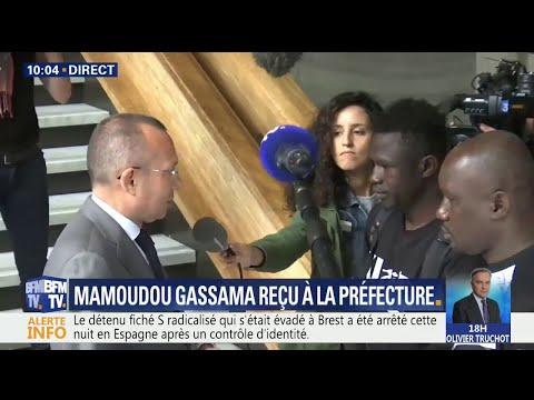 Mamoudou Gassama a été reçu à la préfecture de Seine-Saint-Denis