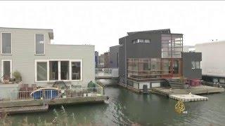 منازل عائمة لحل مشكلة السكن في هولندا