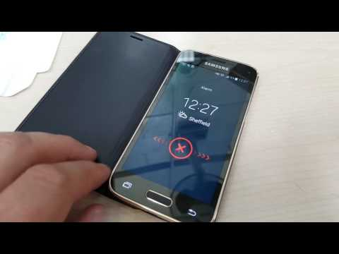 Samsung S5 Mini flip case alarm test