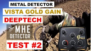 Deeptech Vista Gold Gain Metal Detector - TEST IN RICERCA VERA -  MEDAGLIA VOTIVA! #14