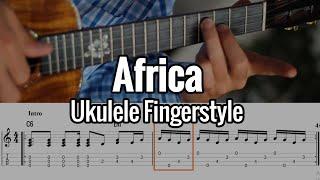 Toto - Africa (Ukulele Fingerstyle) Tabs On Screen