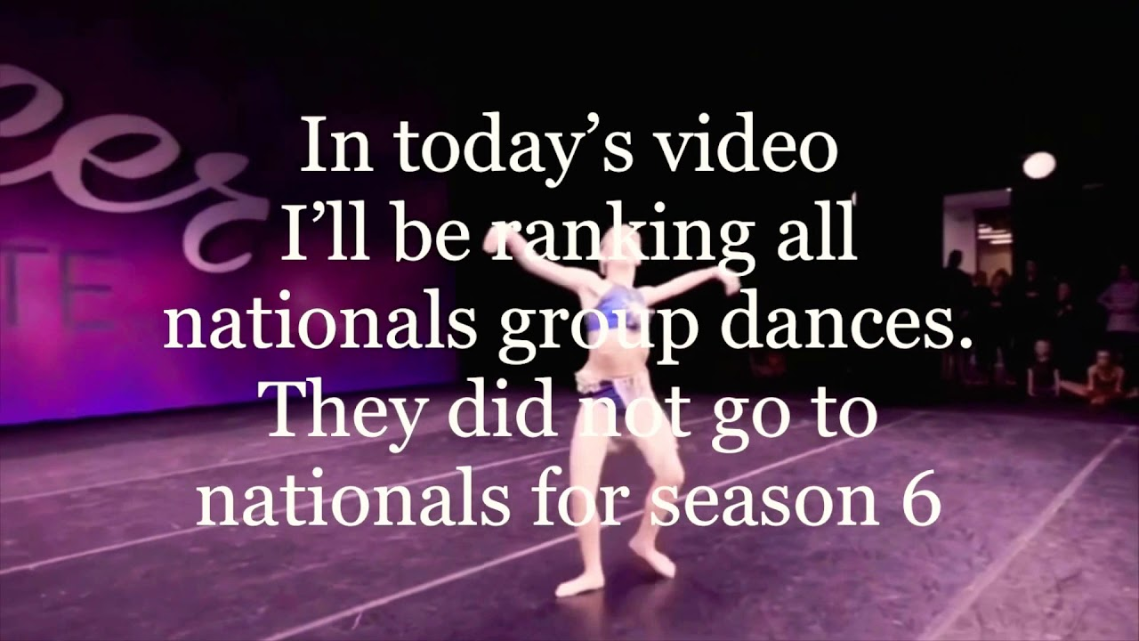 Dance Moms- national group dances ranked