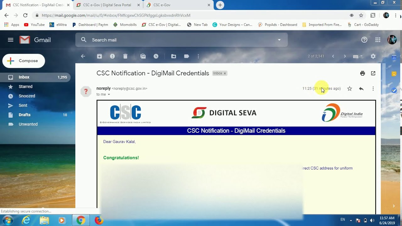 Csc new id login direct access not allowed solution