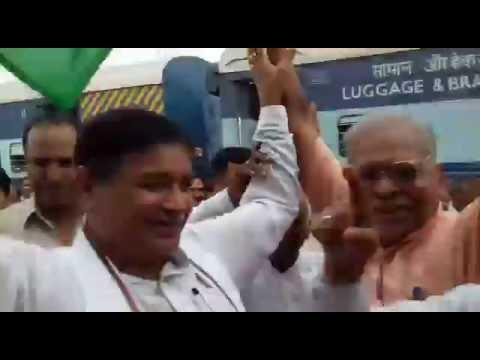MP Rajkumar Saini at kaithal for the inauguration of new Railway station.