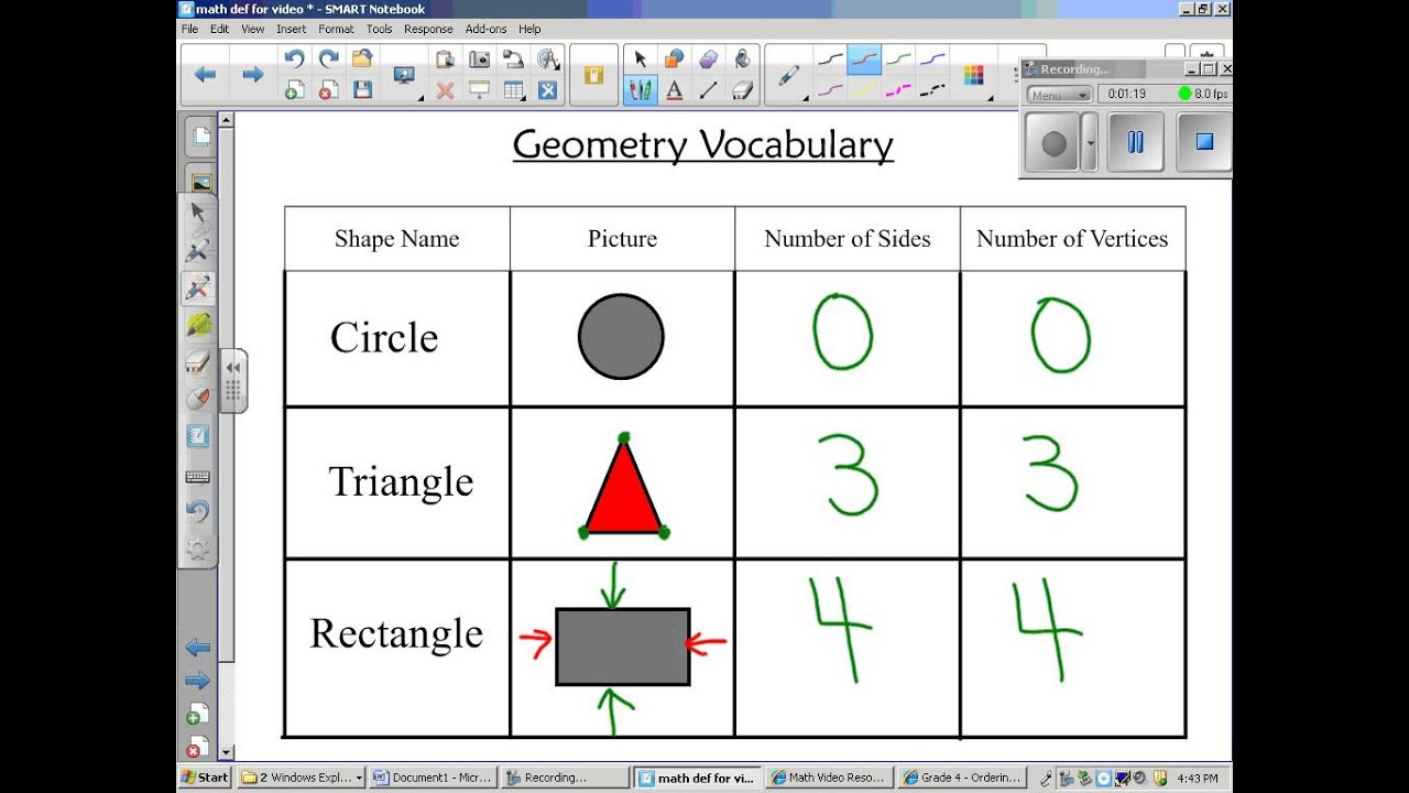 Grades K & 1 - Geometry Vocabulary video - YouTube