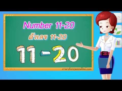 คำศัพท์ภาษาอังกฤษเด็กๆ Number 11-20  ตัวเลข 11-20