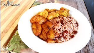 Curry Chicken With Rice And Peas And Fried Plantain (Coming Soon) | Recipes By Chef Ricardo