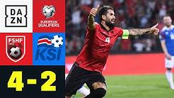 Albanien holt wichtigen Sieg: Albanien - Island 4:2 | EM-Quali | DAZN Highlights