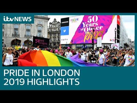 Pride In London 2019 main parade highlights | ITV News