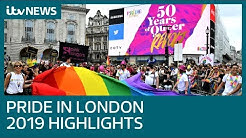 Pride In London 2019 main parade highlights | ITV News