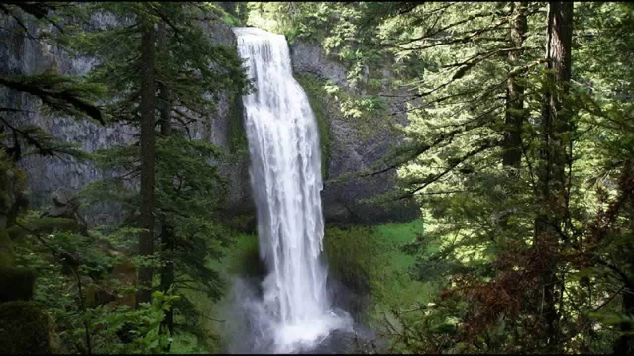 Relaxing Mountain River Waterfall Sounds - The Calming ...