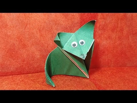 Origami CAT - How To Make  Origami CAT tutorial #Origami