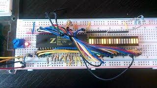 Zilog Z80: erster Versuchsaufbau