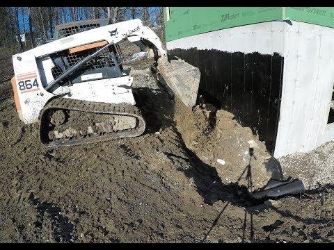 Filing around a foundation