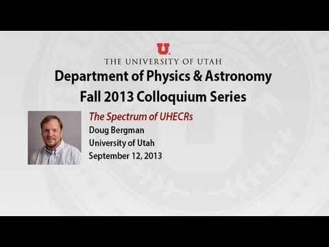 Colloquium: Doug Bergman, September 12, 2013