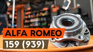 Watch the video guide on ALFA ROMEO 159 Sportwagon (939) Brake pad set replacement