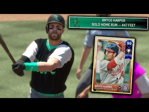 99 BRYCE HARPER ABSOLUTELY DESTROYED THIS BALL! MLB The Show 17 | Battle Royale