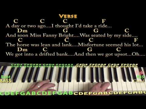 Jingle Bells (Christmas) Piano Chord Chart in C with Chords/Lyrics ...