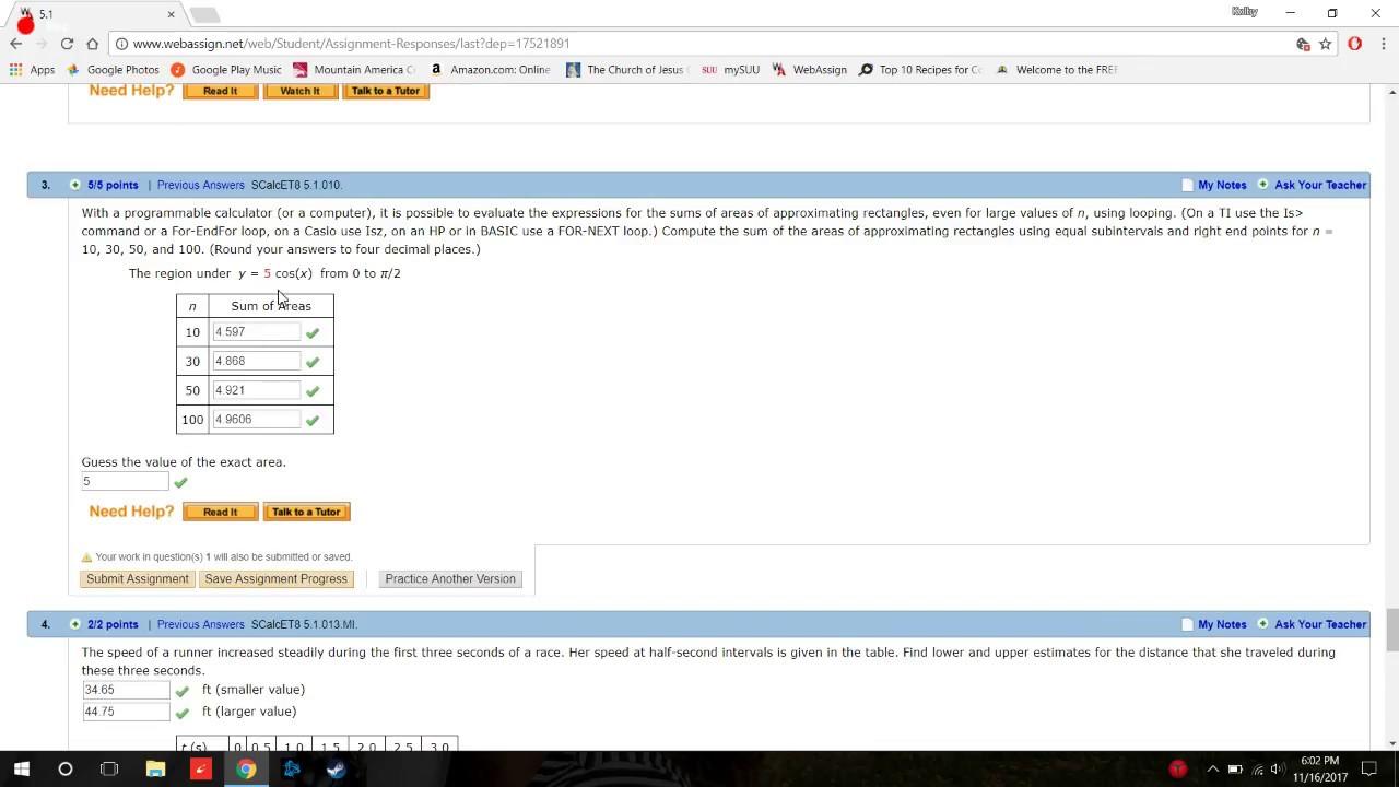 webassign math homework answers