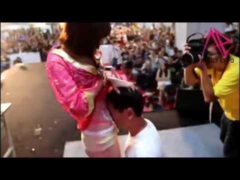2016第五屆台灣成人博覽會~吉川愛美 女體奶油 2016 Taiwan Adult Expo
