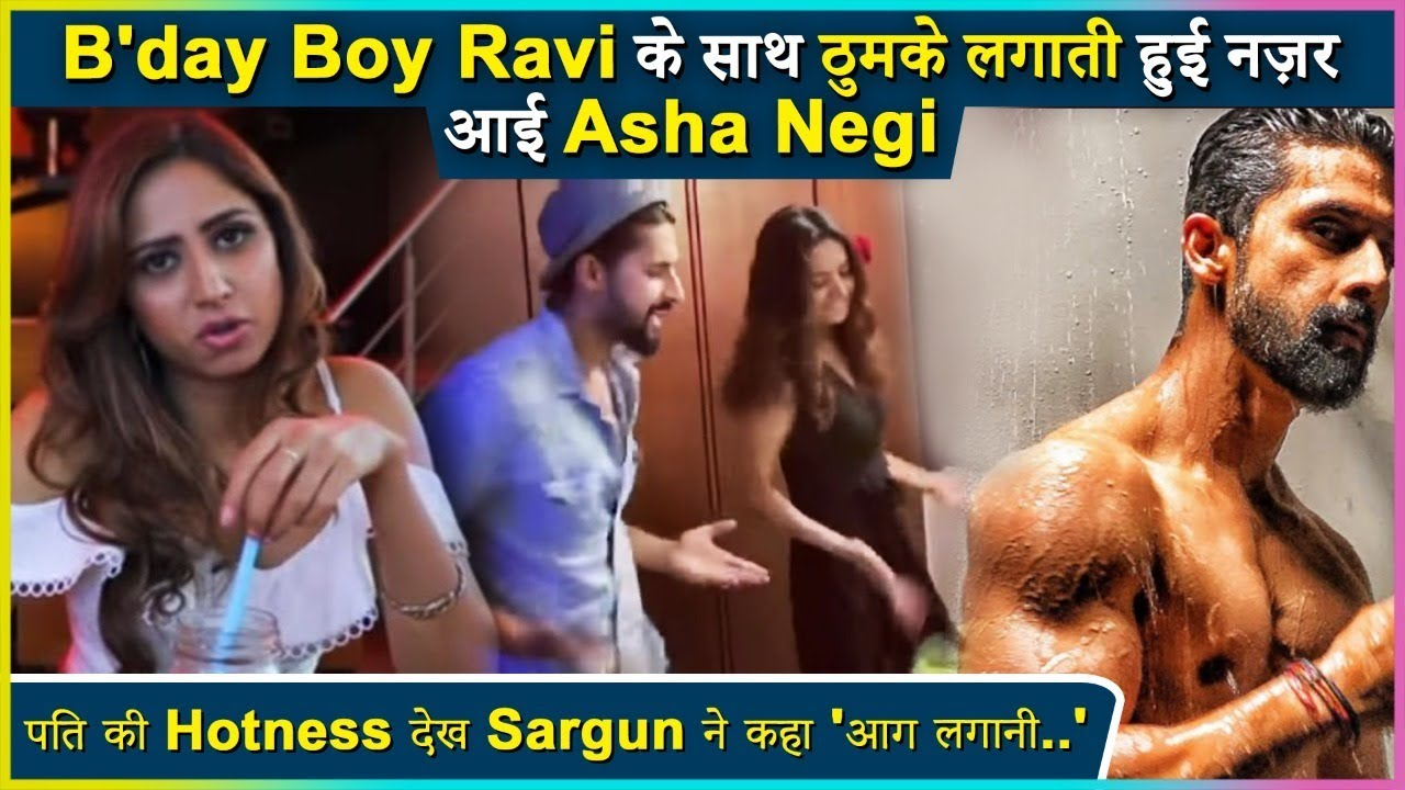 Download Asha Negi Shares Dancing Video Of Birthday Boy Ravi Dubey | Sargun's EPIC Comment On Ravi's Photo