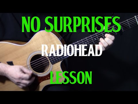 """how to play """"No Surprises"""" on guitar by Radiohead 