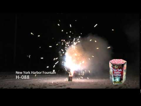 Phantom Fireworks - New York Harbor Fountain