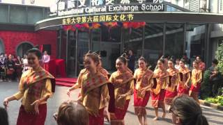 Lao Students Traditional Dance show in Donghua University, Shanghai