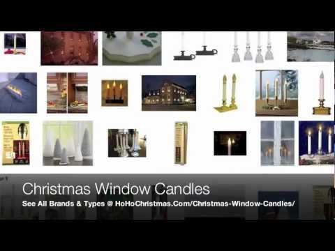 traditional and electric christmas window candles like led battery powered candle lights