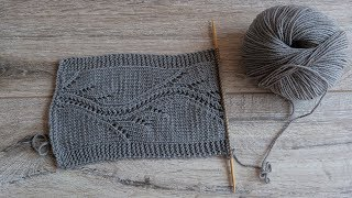 Узор «Хвост Змея» спицами, видео | «Tail of the Dragon» knitting pattern | «yılan kuyruğu» örgü