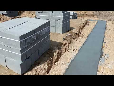 Ławy Fundamentowe Zalane Betonem