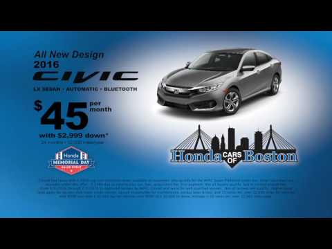 Honda Civic Deals At Honda Cars Of Boston