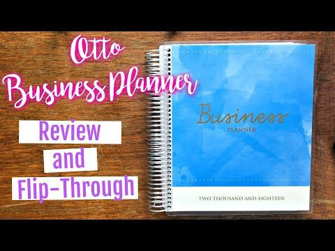 Otto Business Planner Review & Flip Through || OFFICEWORKS BUSINESS PLANNER