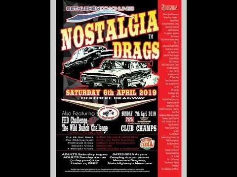 Drag racing : Nostalgia drags from Meremere dragway