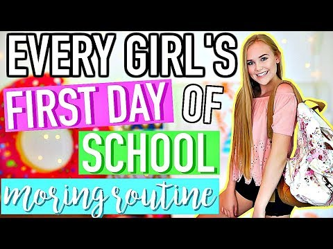 Every Girl's MORNING ROUTINE for the FIRST DAY of SCHOOL