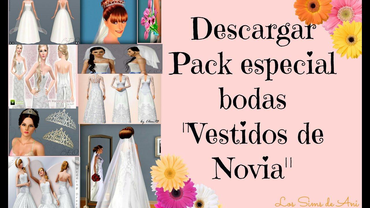 Descargar pack de boda Especial Vestidos de Novia - Los Sims 3 - YouTube