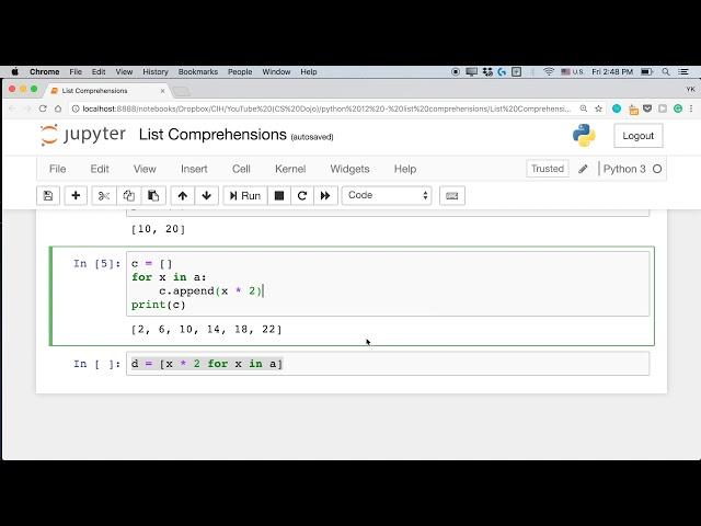 List Comprehension Basics with Python (Python Tutorial #12)