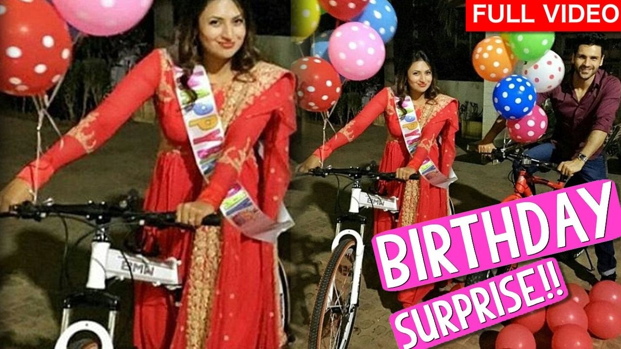 168ff403a20b Divyanka Tripathi Birthday surprise gift by husband Vivek Dahiya ...