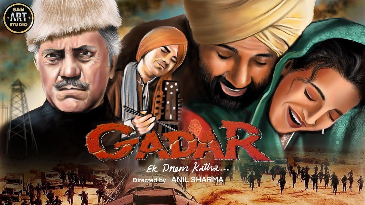 Download GADAR EK PREM KATHA 2001 | Sunny Deol | Ameesha Patel | Amrish Puri | Procreate Art Tutorial
