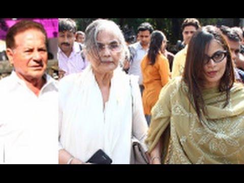 Funeral of Bollywood Actress Nanda | Salim Khan, Shashikala, Alvira Khan,