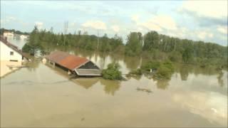 Donau Hochwasser Deggendorf - Fischerdorf am 07.06.2013 mit der Waldbahn