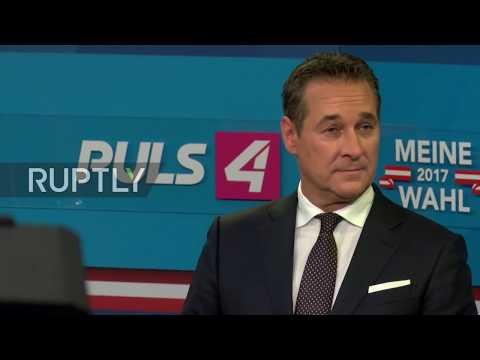 Austria: 'A day for democracy' - FPO candidate Strache satisfied with preliminary election results