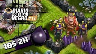 DIÁRIO do ELIXIR NEGRO #12 - REI CATRA e suas DUAS RAINHAS - Clash of Clans