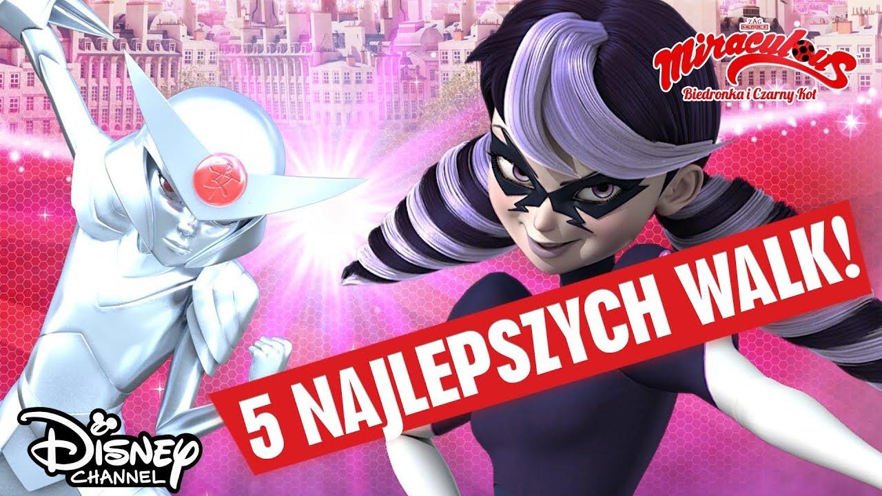 ⚔️ TOP 5 walk | Miraculous: Biedronka i Czarny Kot | Disney Channel Polska