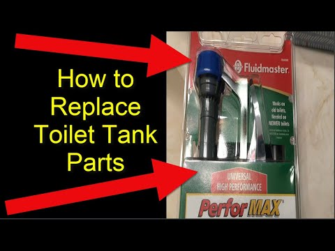 How To Fix A Running Toilet Replace All Internal Toilet Tank Parts Youtube